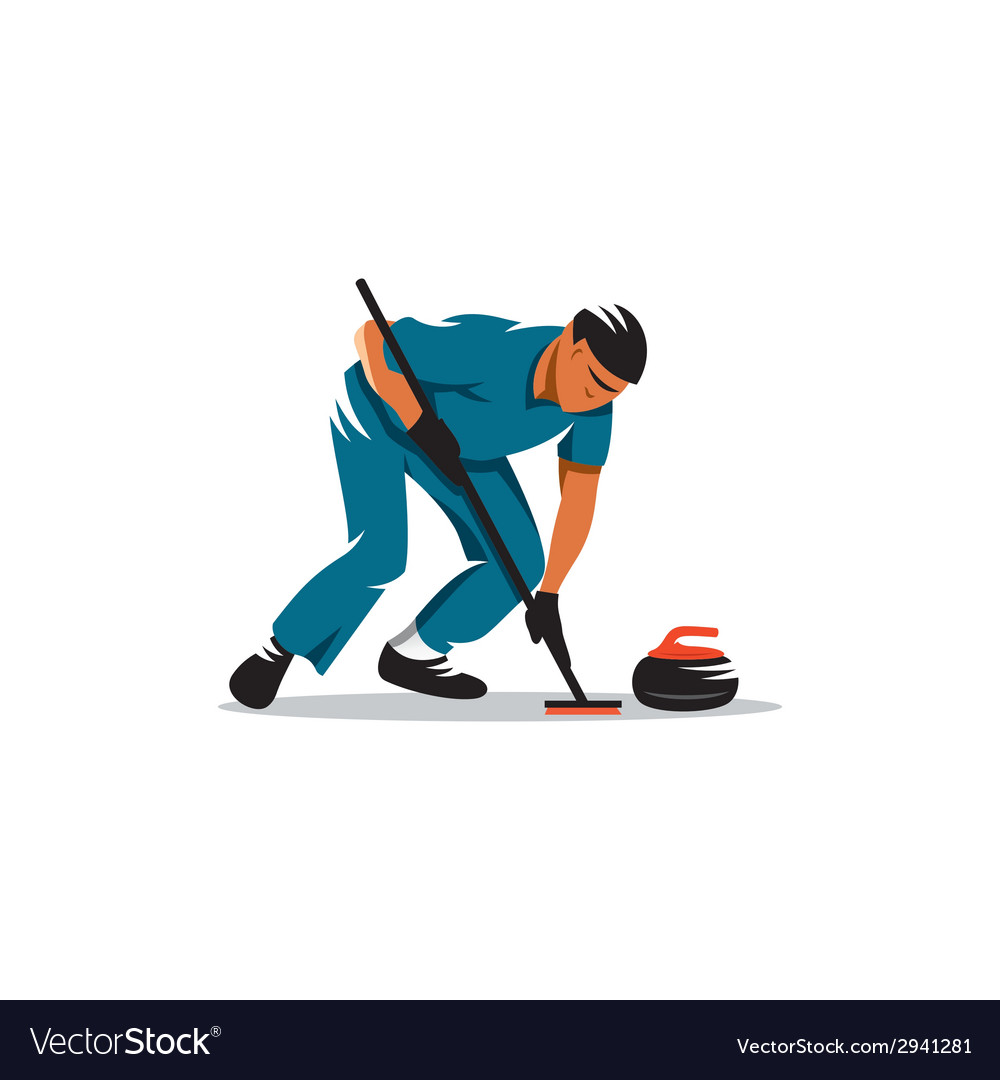 Curling game sign vector | Price: 1 Credit (USD $1)