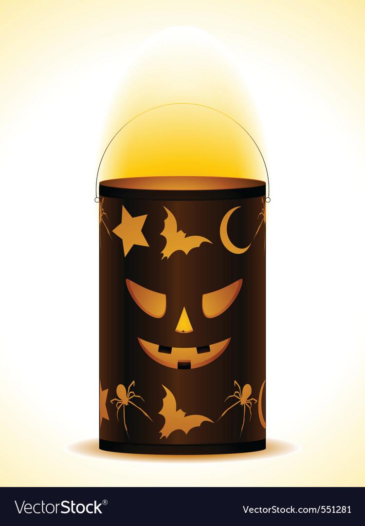 Halloween lantern vector | Price: 1 Credit (USD $1)