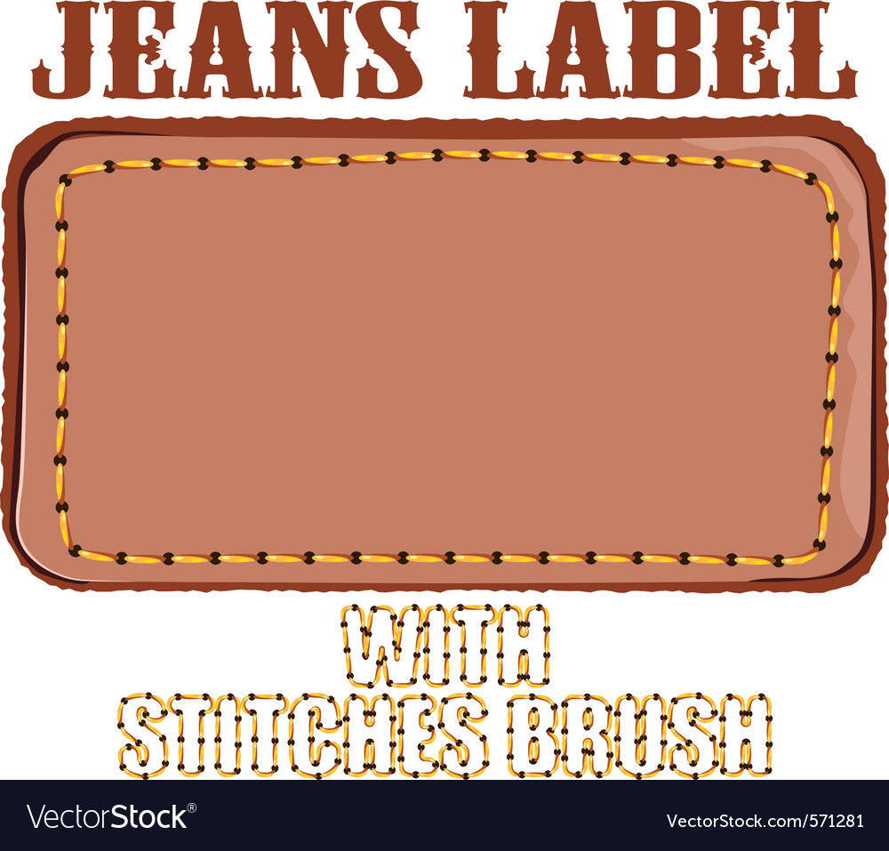 Jeans label vector | Price: 1 Credit (USD $1)