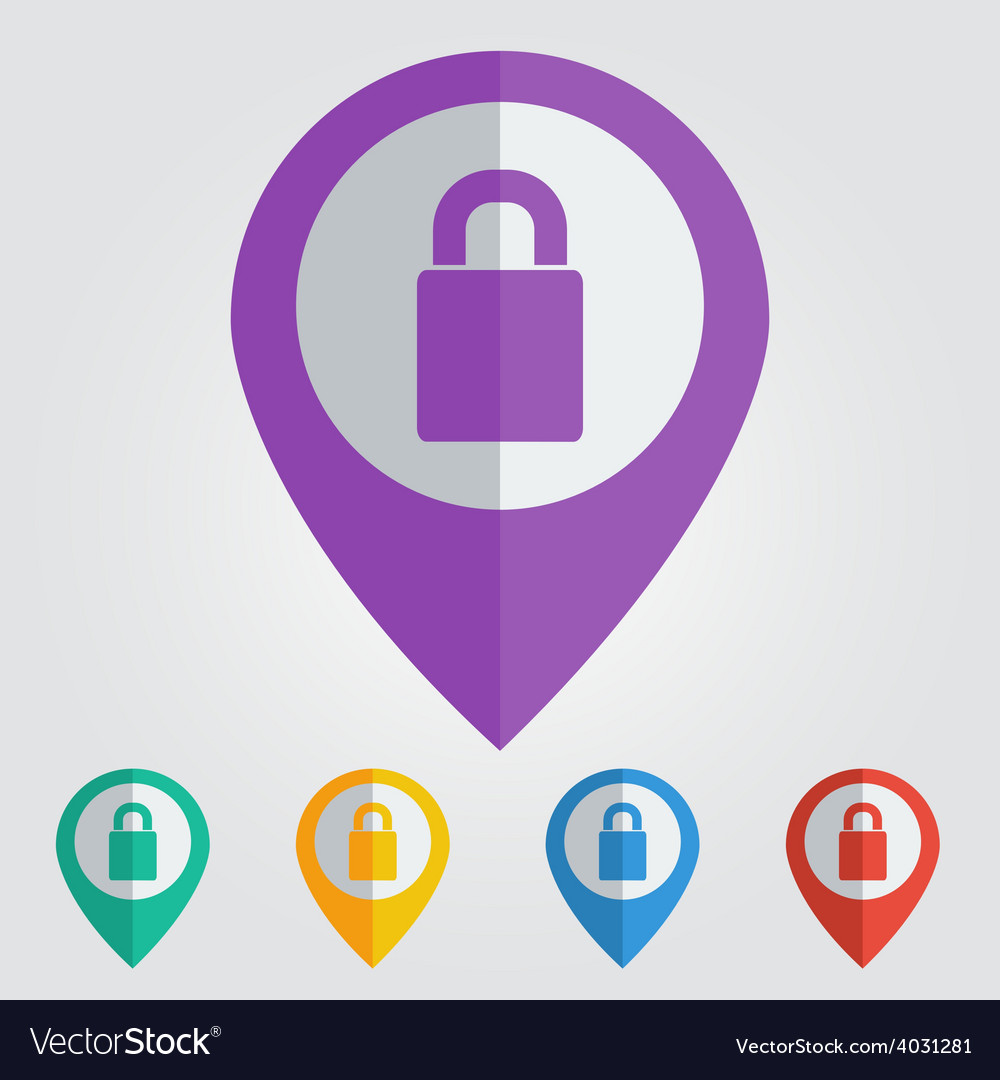 Lock flat vector | Price: 1 Credit (USD $1)