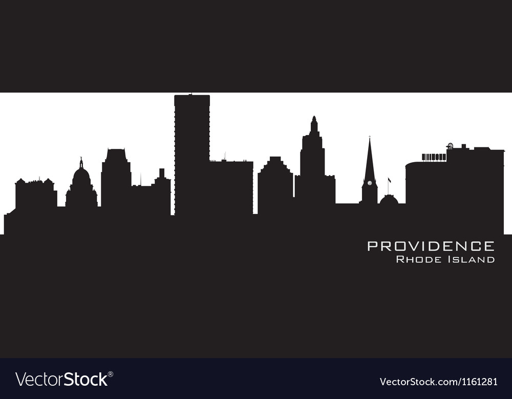 Providence rhode island skyline detailed city silh vector | Price: 1 Credit (USD $1)
