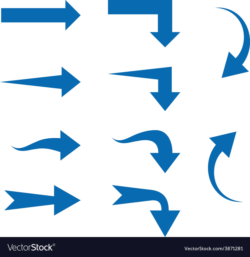 Set of ten different arrows vector | Price: 1 Credit (USD $1)