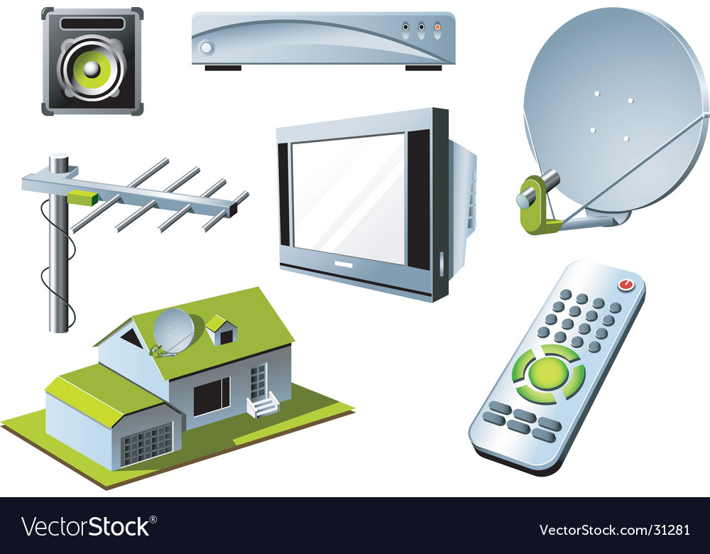 Tv system vector | Price: 3 Credit (USD $3)