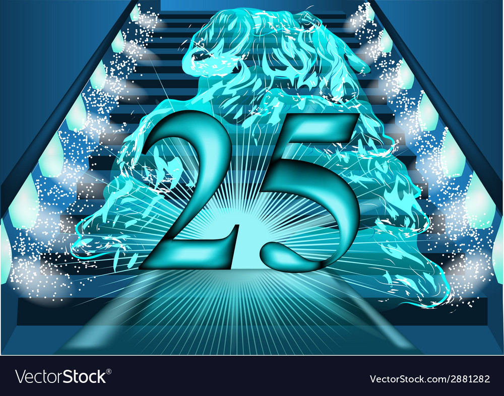 25 year sanniversary temp passed vector | Price: 1 Credit (USD $1)