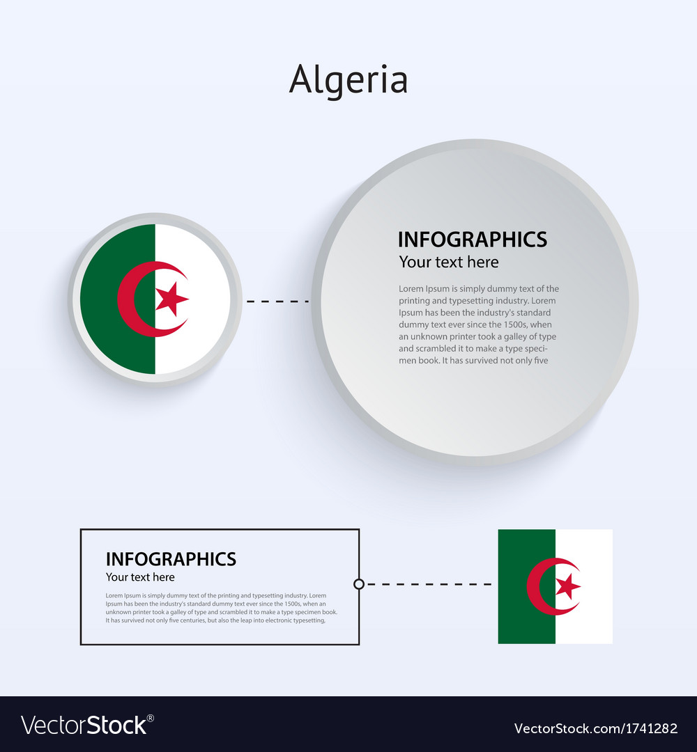 Algeria country set of banners vector | Price: 1 Credit (USD $1)