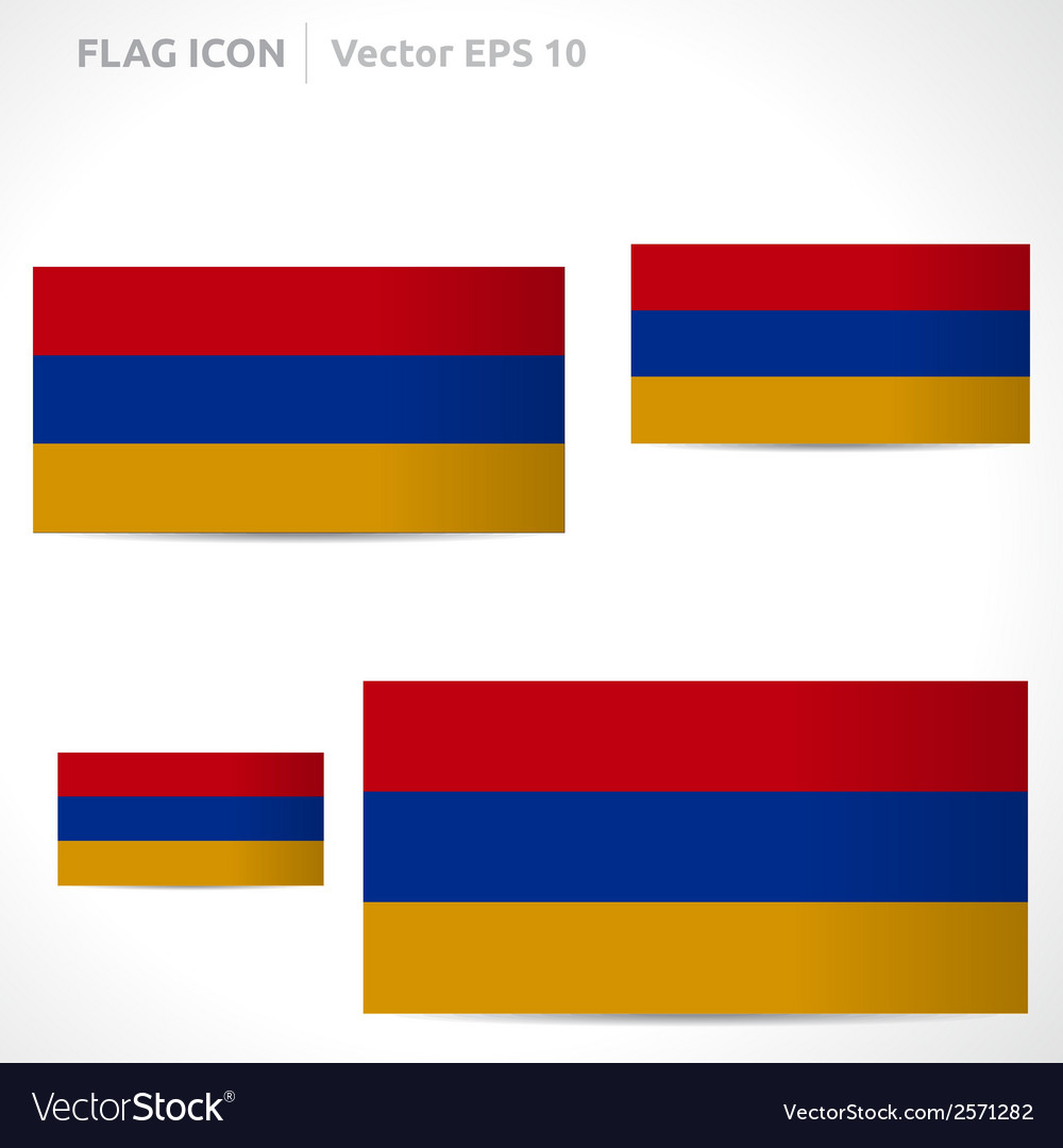 Armenia flag template vector | Price: 1 Credit (USD $1)