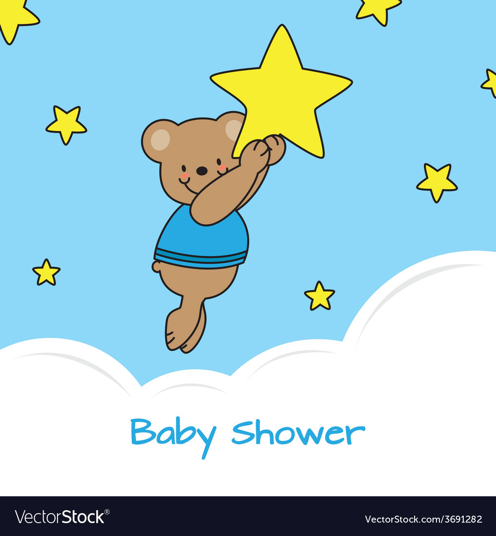 Bear and stars vector | Price: 1 Credit (USD $1)