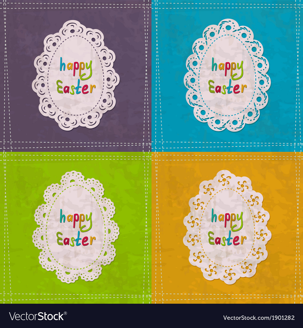 Easter cards with lacy frames vector   Price: 1 Credit (USD $1)