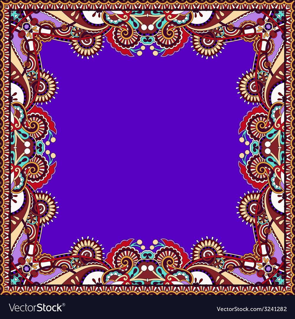 Floral vintage frame in violet colour vector | Price: 1 Credit (USD $1)