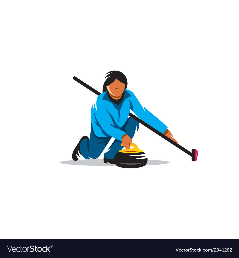 The game of curling sign vector | Price: 1 Credit (USD $1)