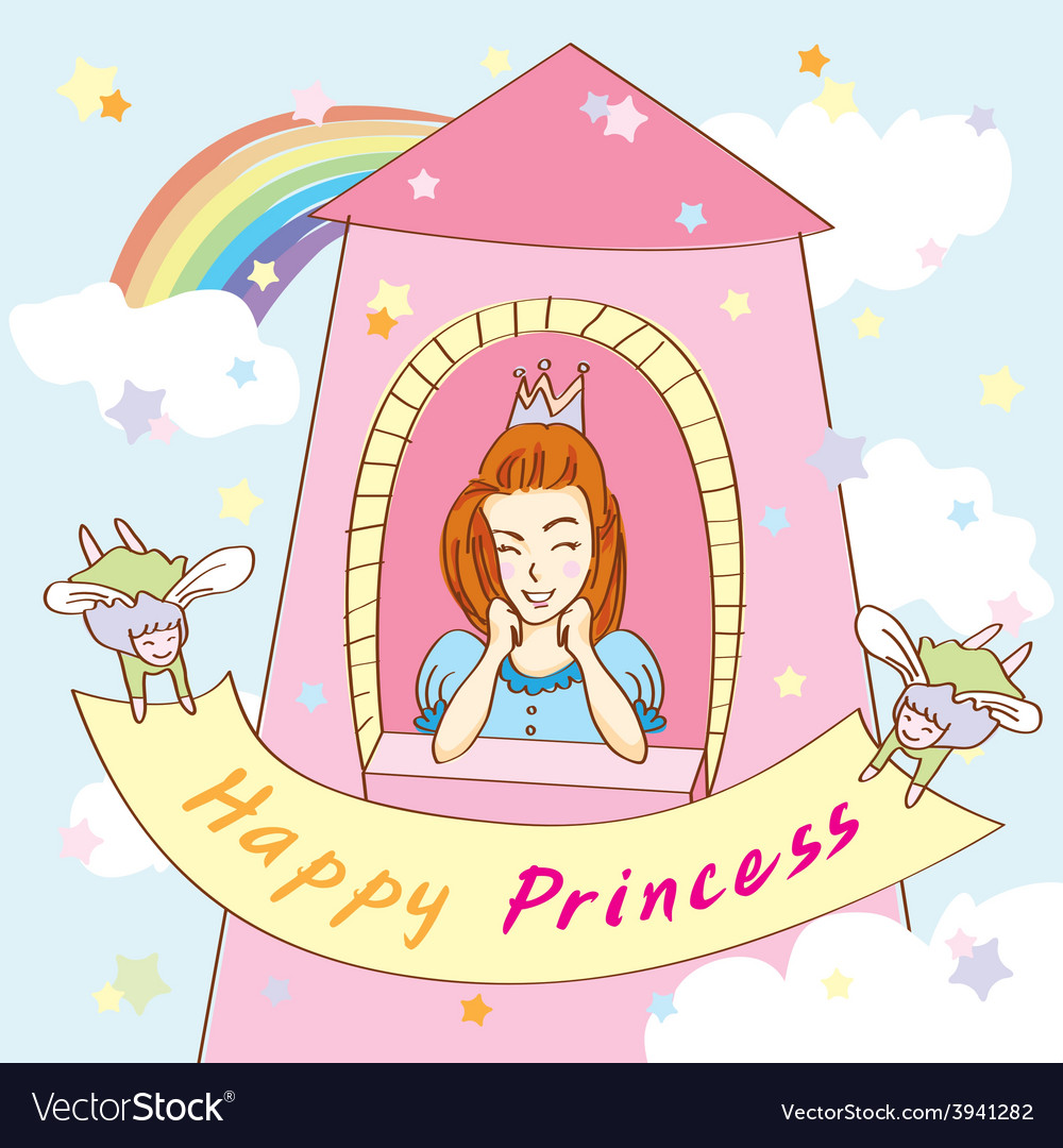 Happy princess tower vector | Price: 1 Credit (USD $1)