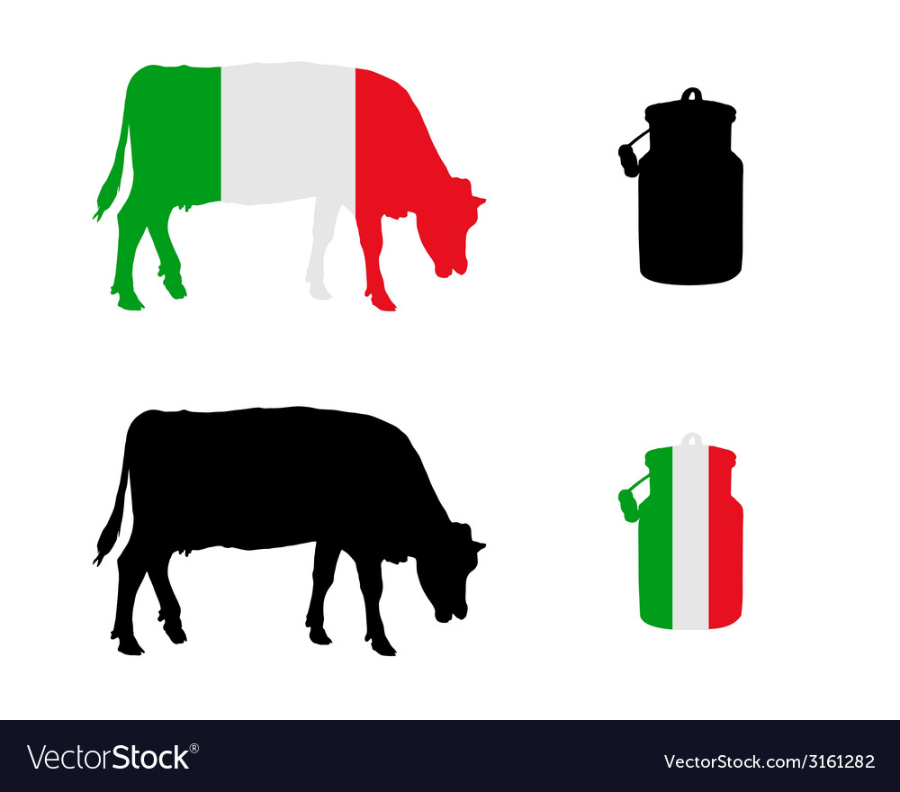 Italian milk cow vector | Price: 1 Credit (USD $1)