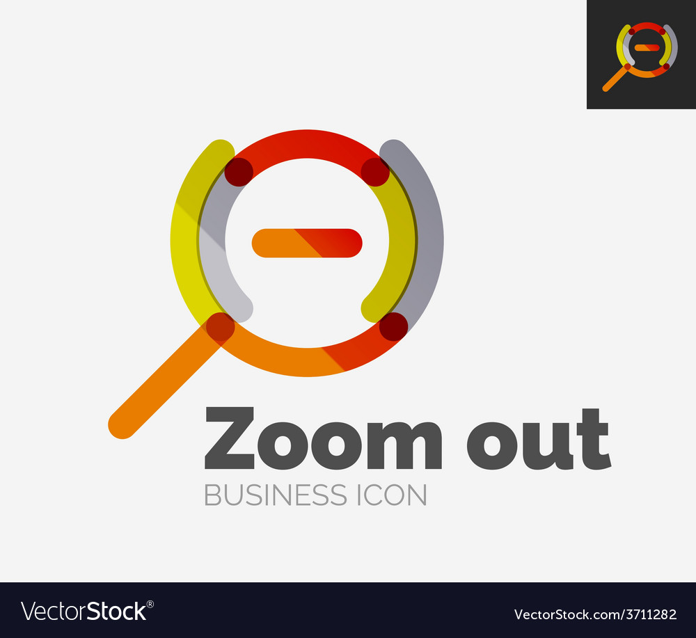 Minimal line design logo zoom icon vector | Price: 1 Credit (USD $1)