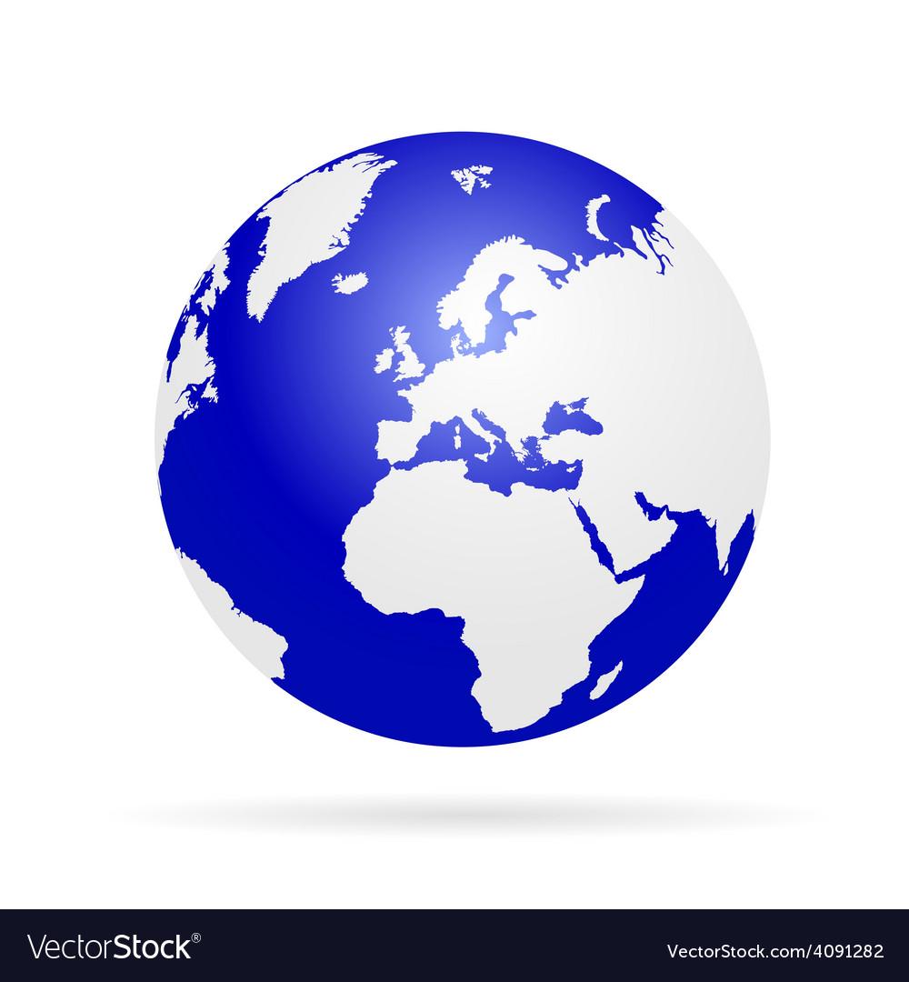 Planet earth color vector | Price: 1 Credit (USD $1)