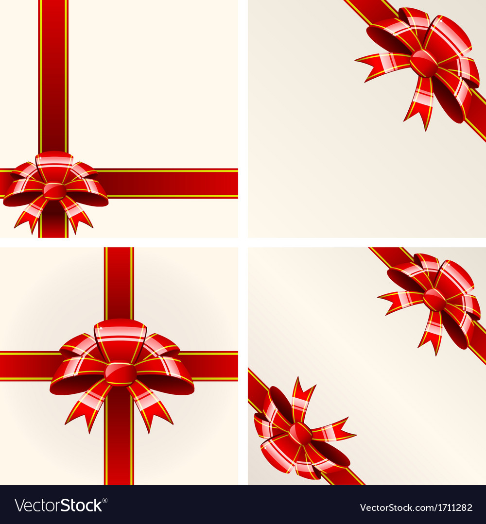 Red bow with ribbons vector | Price: 1 Credit (USD $1)