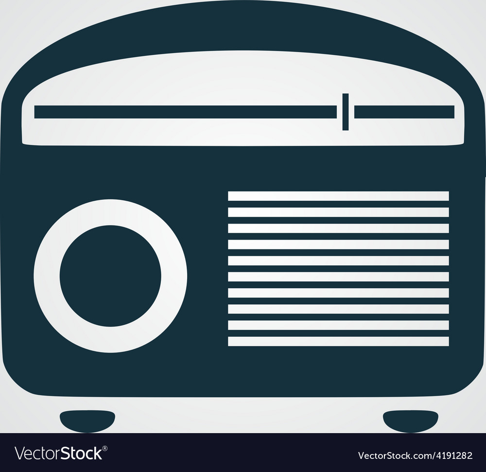 Retro revival radios tuner vector | Price: 1 Credit (USD $1)