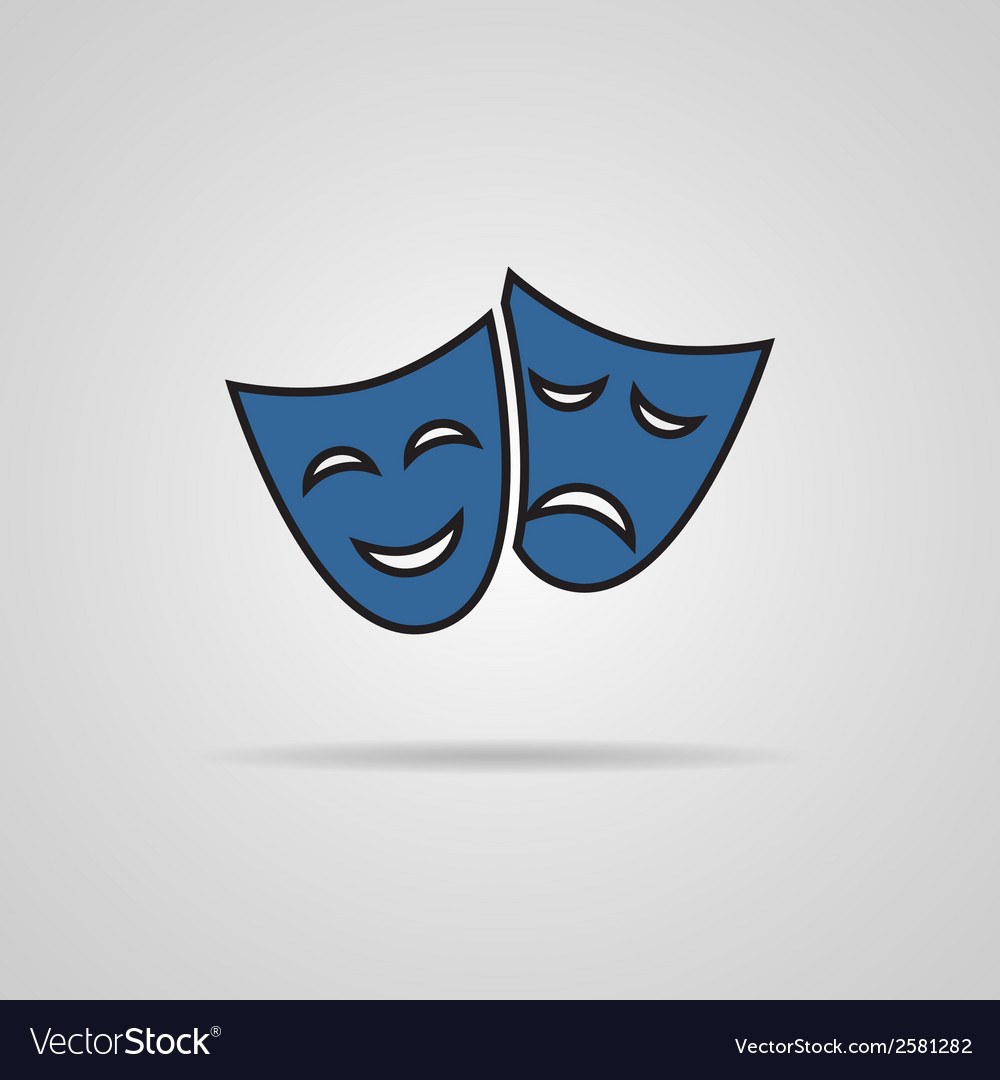 Theater masks carnaval concept vector | Price: 1 Credit (USD $1)