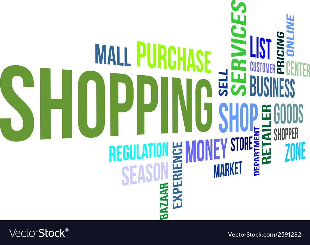 Word cloud shopping vector | Price: 1 Credit (USD $1)