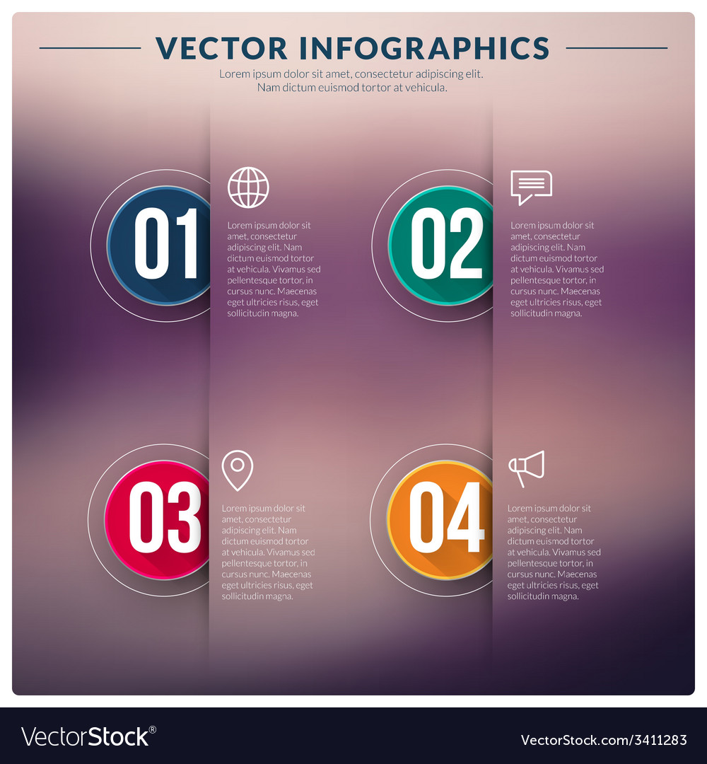 Abstract infographic design vector | Price: 1 Credit (USD $1)
