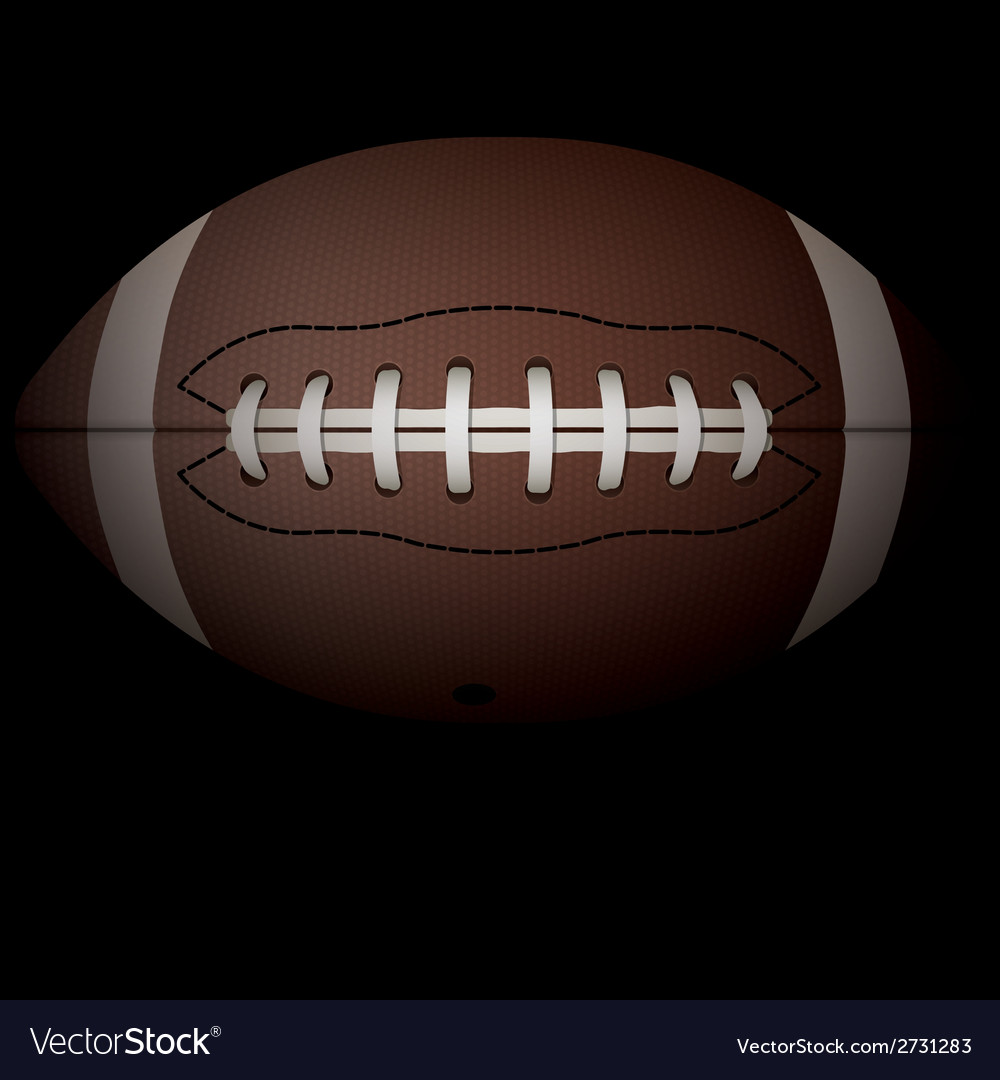 American football on black vector | Price: 1 Credit (USD $1)