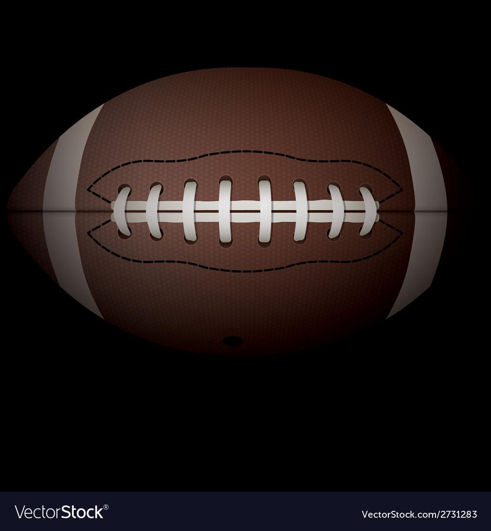 American football on black vector | Price: 1 Credit (USD $1)