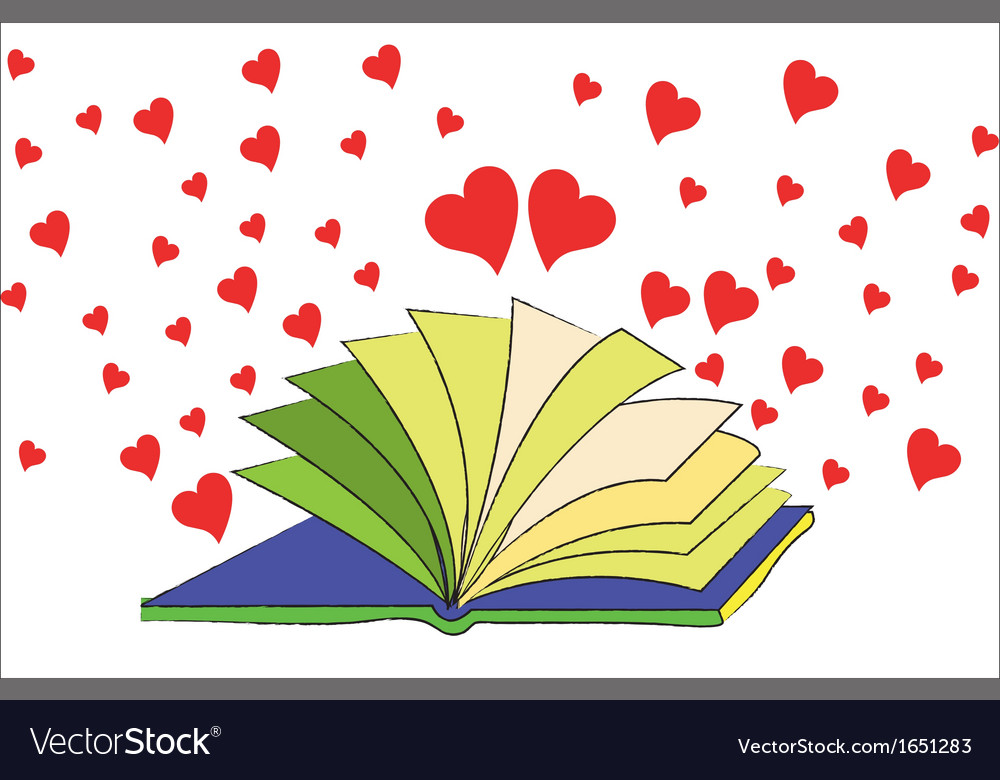 The book of love vector | Price: 1 Credit (USD $1)