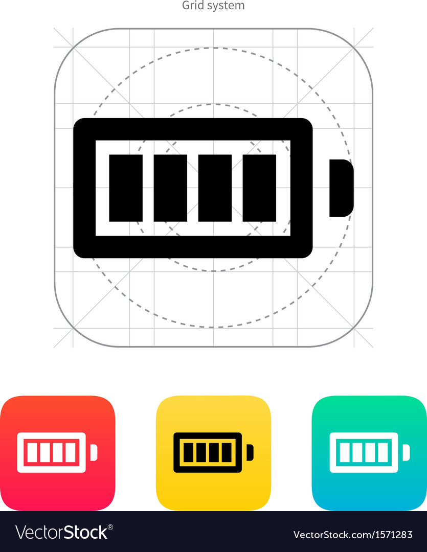 Full charge battery icon vector | Price: 1 Credit (USD $1)