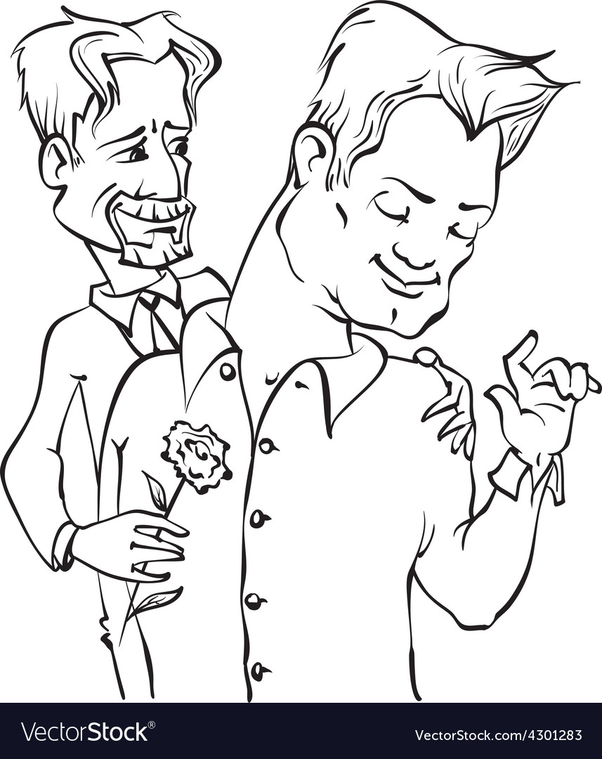 Gays couple vector
