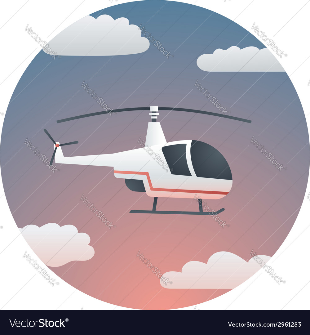 Helicopter detailed vector | Price: 1 Credit (USD $1)