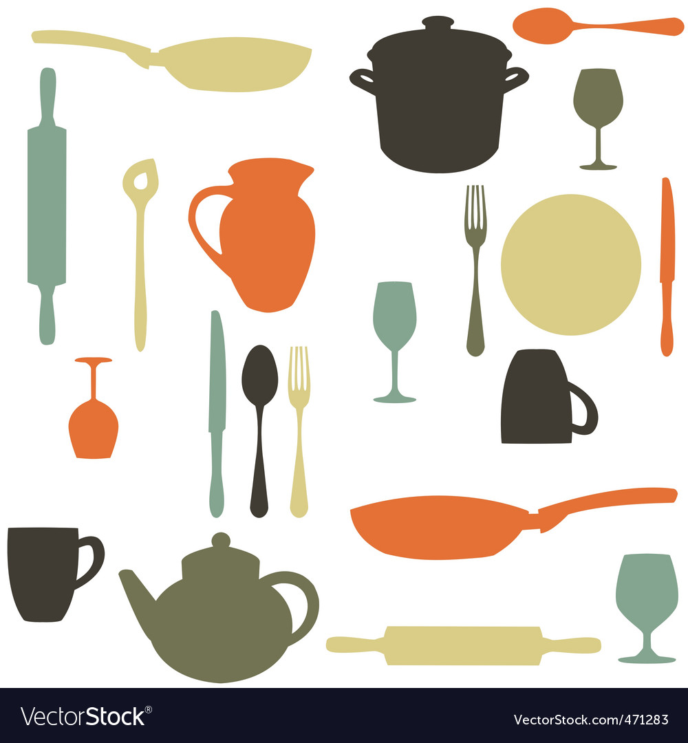 Kitchen items vector | Price: 1 Credit (USD $1)