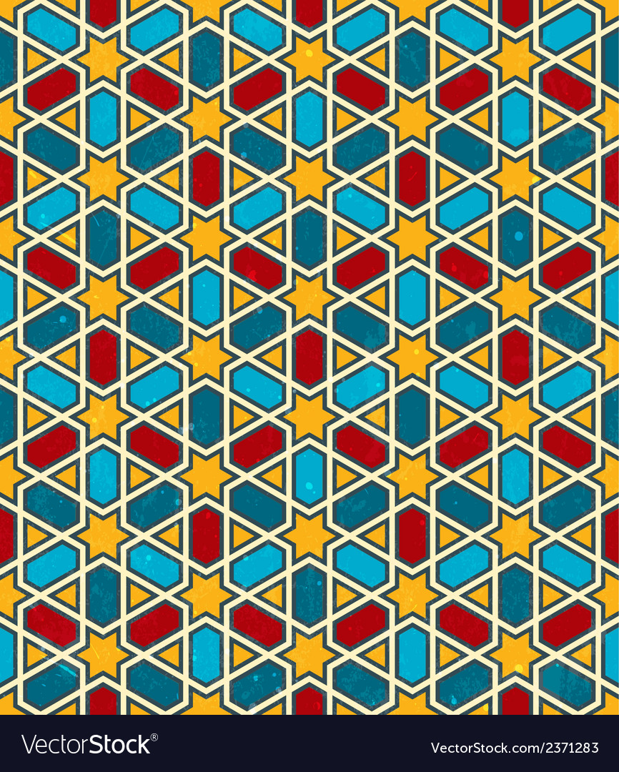 Moroccan geometric pattern seamless background vector | Price: 1 Credit (USD $1)