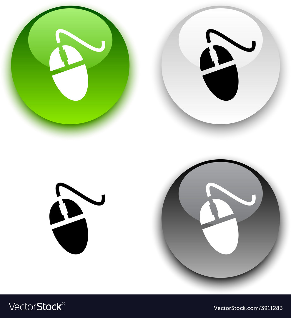 Mouse button vector | Price: 1 Credit (USD $1)