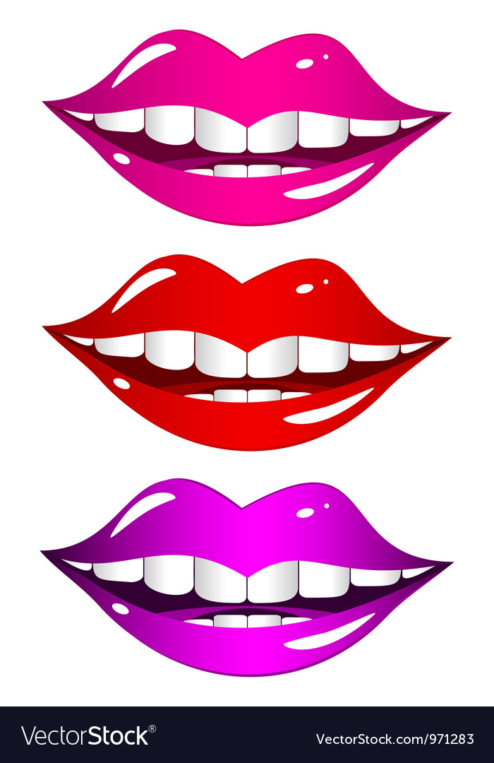 Mouth laughs set vector | Price: 1 Credit (USD $1)