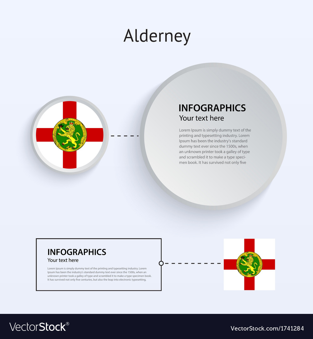 Alderney country set of banners vector | Price: 1 Credit (USD $1)
