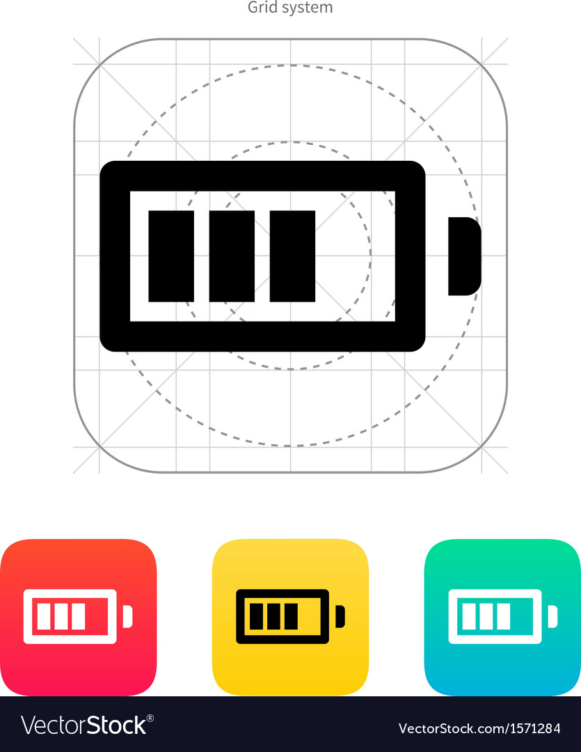 Battery charge icon vector | Price: 1 Credit (USD $1)