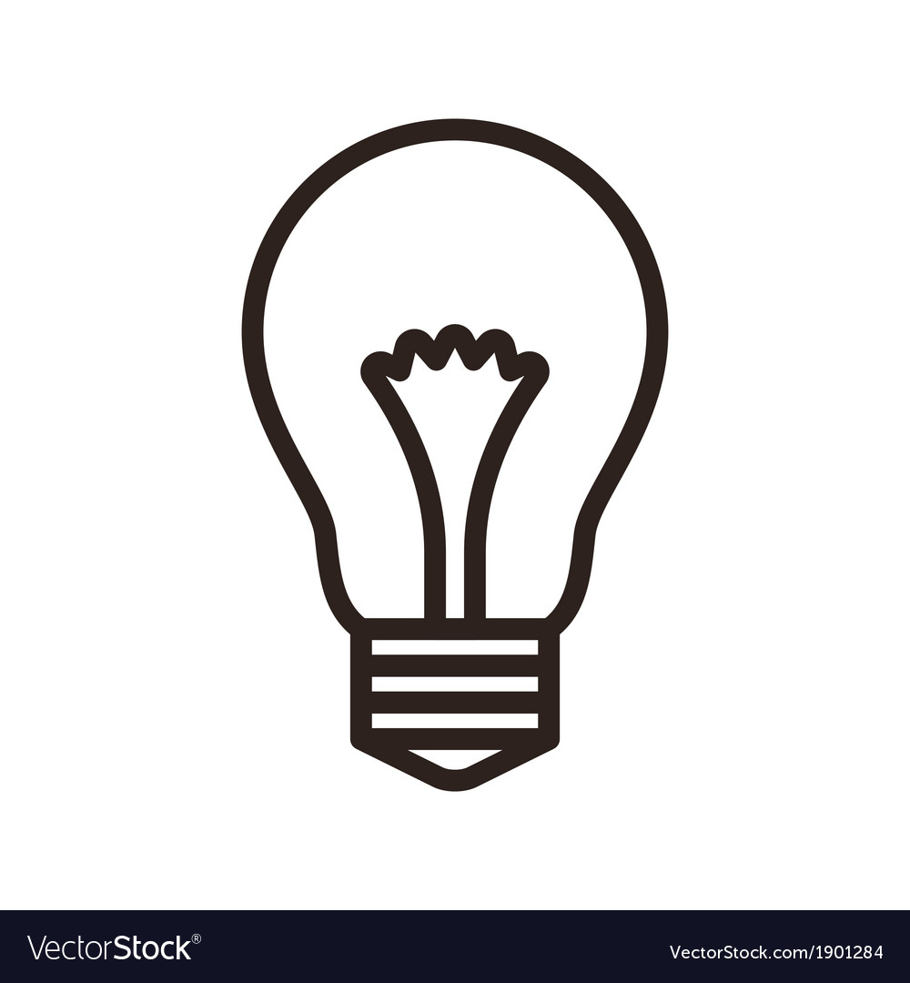 Bulb symbol vector | Price: 1 Credit (USD $1)