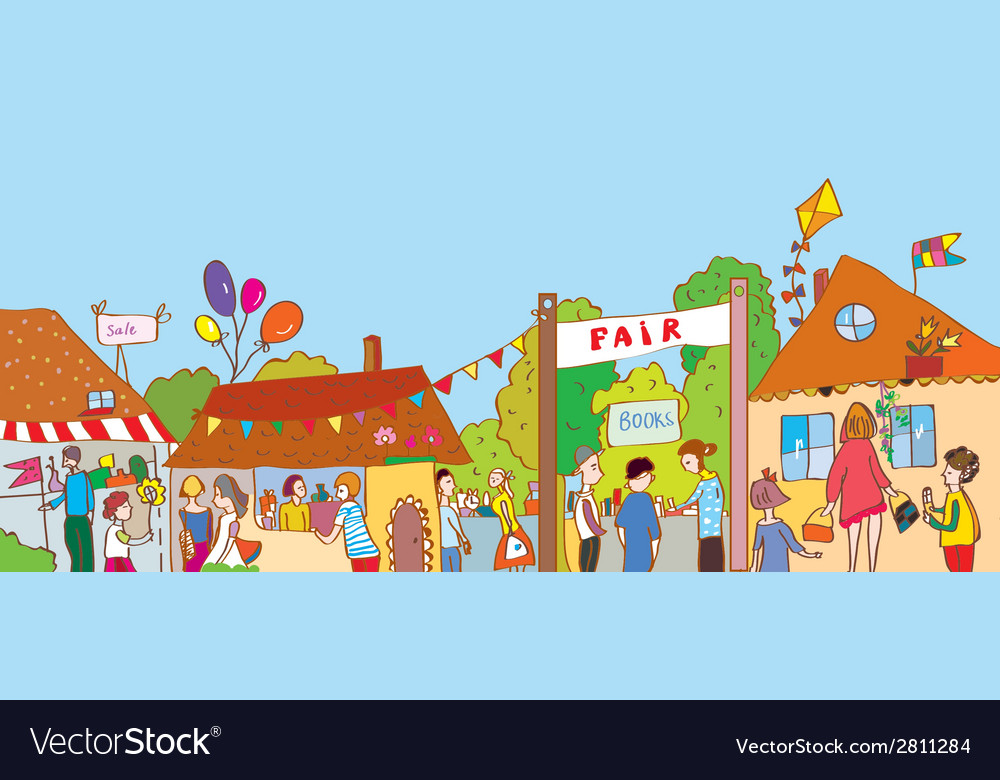 Fair holiday at the town vector | Price: 1 Credit (USD $1)