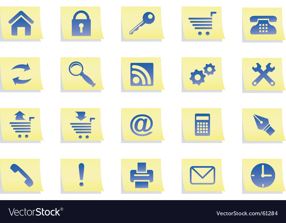Icons on stickers vector | Price: 1 Credit (USD $1)