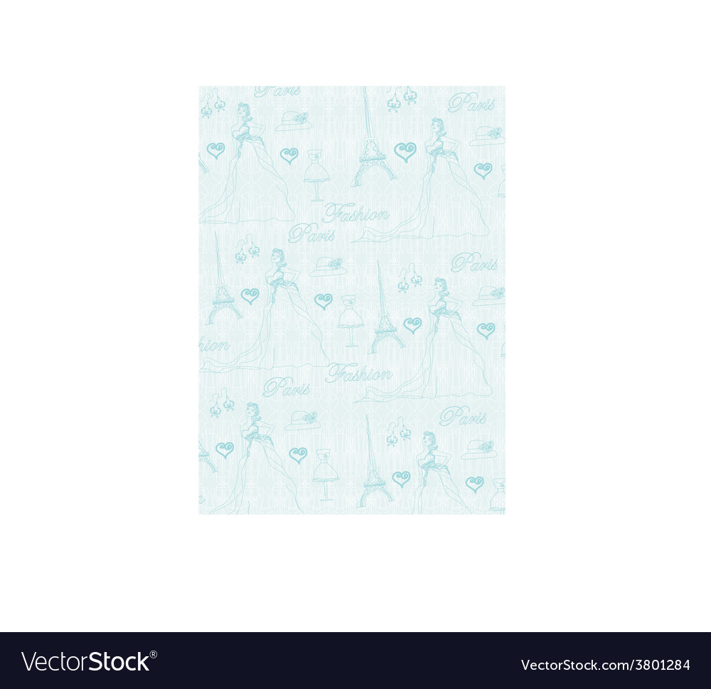 Paris seamless pattern vector | Price: 1 Credit (USD $1)