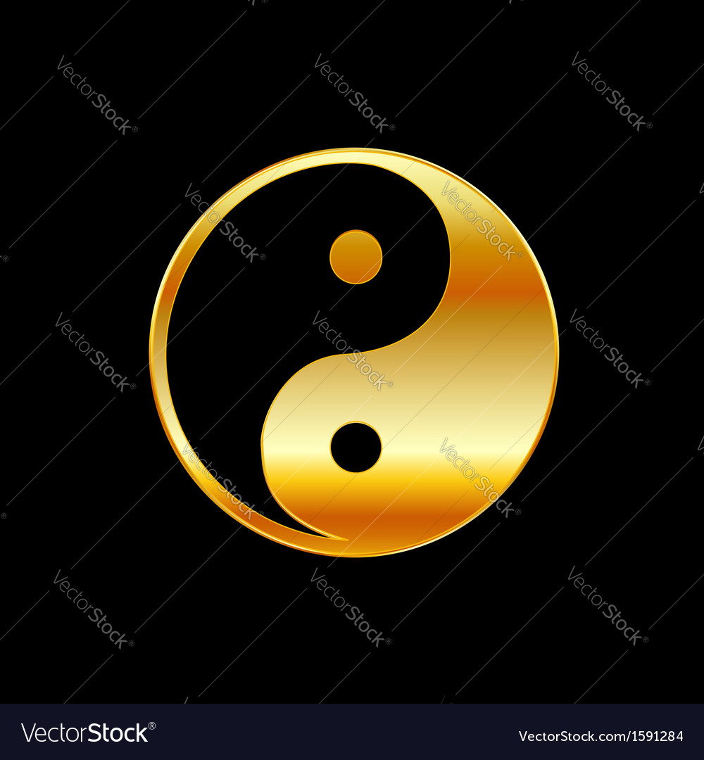 Taoism daoism yin and yang vector | Price: 1 Credit (USD $1)