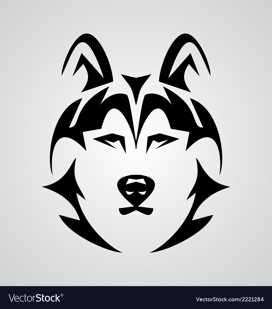 Wolf face vector | Price: 1 Credit (USD $1)