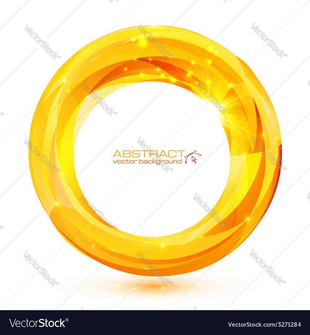 Yellow crystal abstract round frame vector | Price: 1 Credit (USD $1)