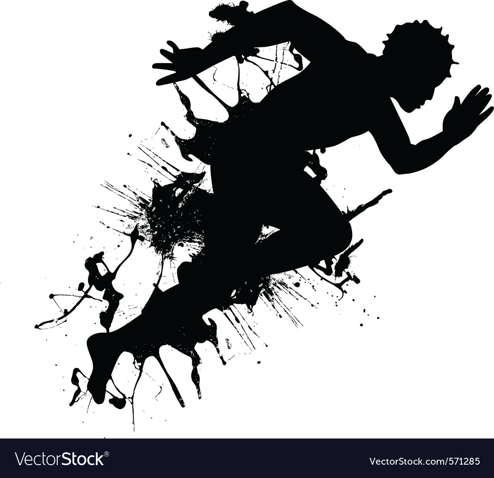 Abstract runner vector | Price: 1 Credit (USD $1)