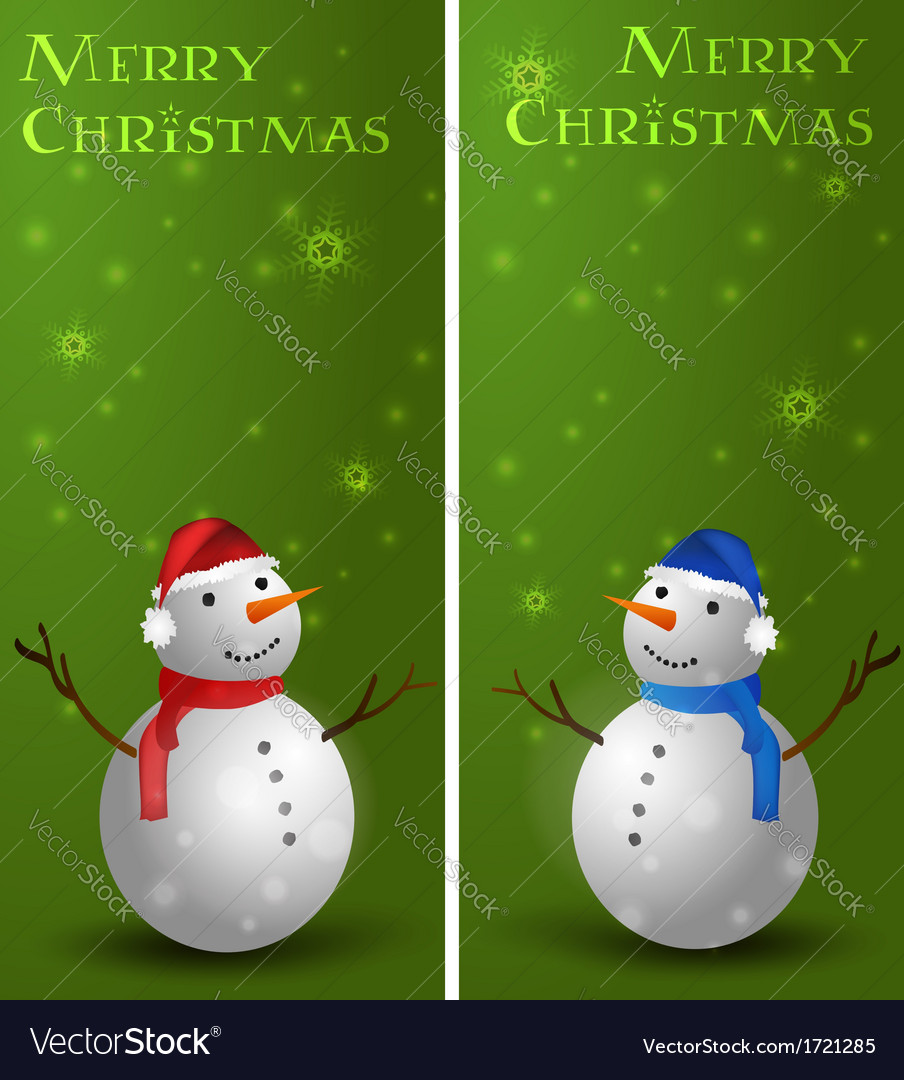 Banners with snowman vector   Price: 1 Credit (USD $1)