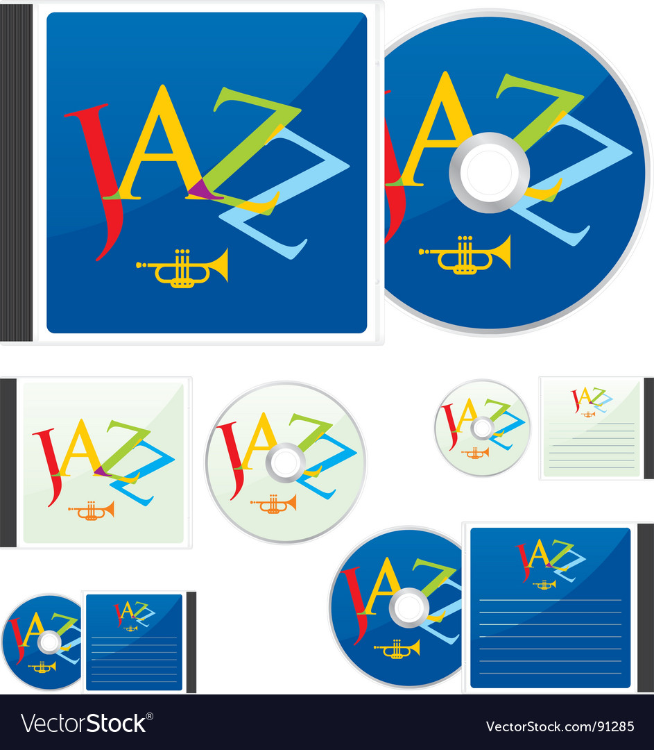 Compact disks with jazz layout vector | Price: 1 Credit (USD $1)