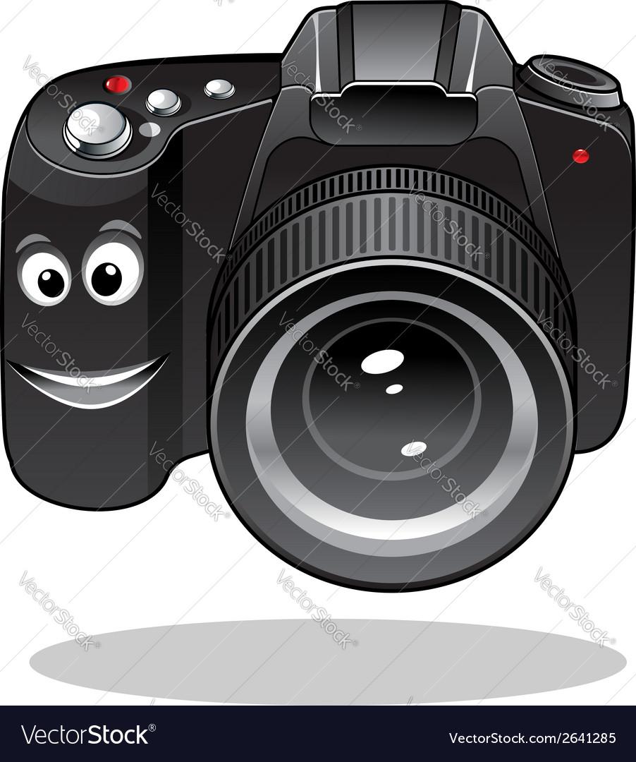Cute cartoon dslr or digital camera vector | Price: 1 Credit (USD $1)