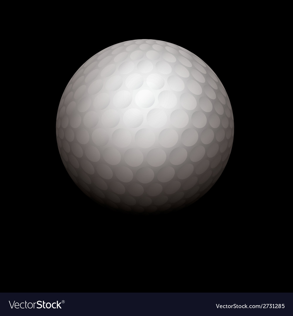 Golf ball on black background vector | Price: 1 Credit (USD $1)