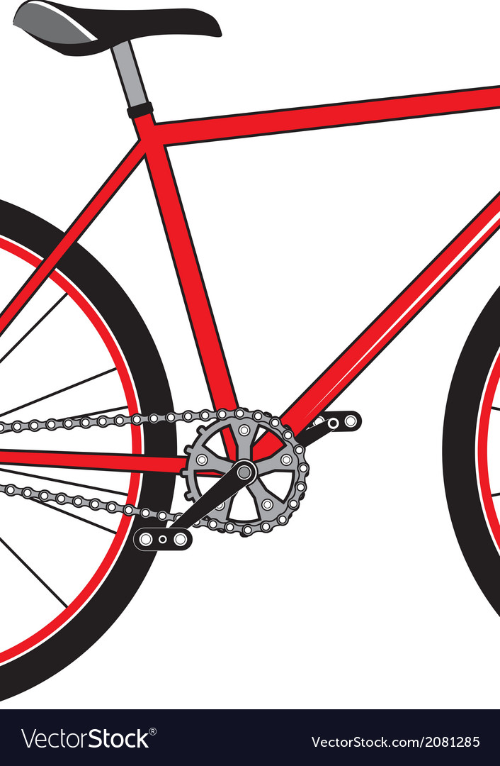 Red sport bicycle on a white background vector | Price: 1 Credit (USD $1)