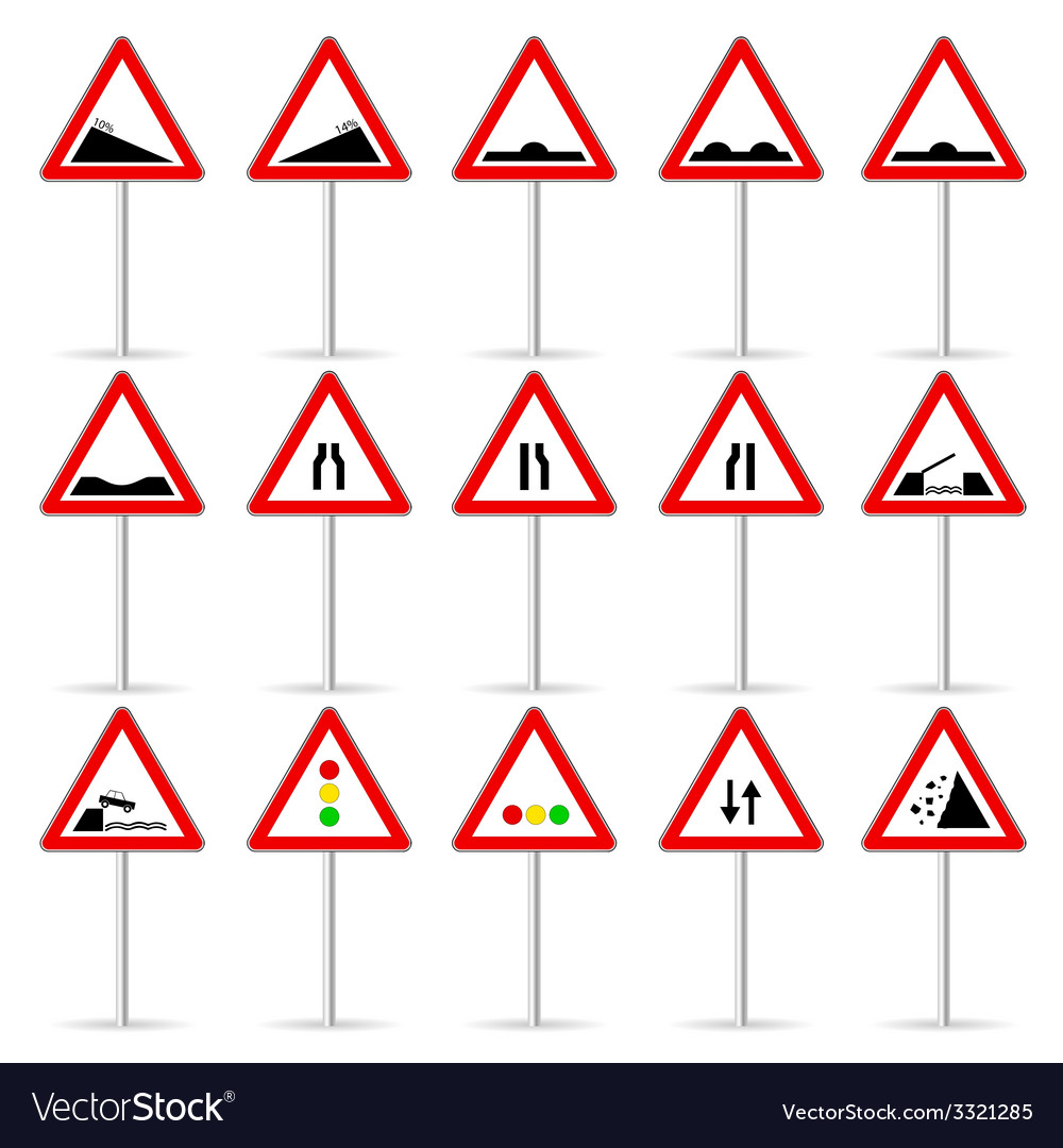 Road sign color art vector | Price: 1 Credit (USD $1)