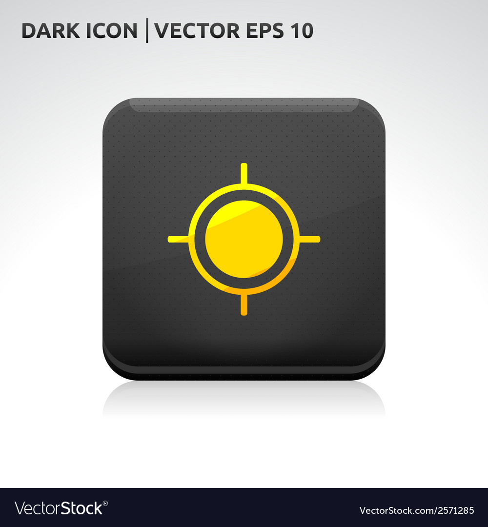 Target aim icon gold vector | Price: 1 Credit (USD $1)